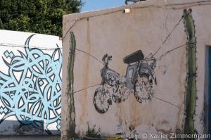 Djerbahood, artistes : EL SEED (Tunisie), MALAKKAI (Espagne)