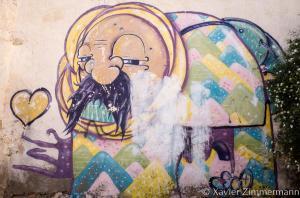 Djerbahood, artiste : VAJO (Tunisie)
