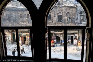 Alep, la rue depuis l'hôtel